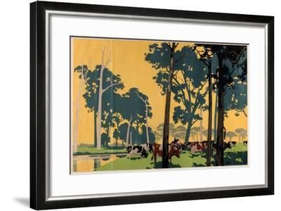Dairying in Australia, from the Series 'Empire Buying Makes Busy Factories'-Frank Newbould-Framed Giclee Print