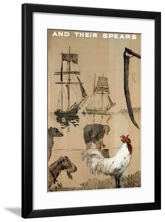 And their Spears, from the Series 'The Empire Stands for Peace'--Framed Giclee Print