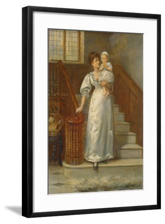 On the Staircase-George Goodwin Kilburne-Framed Giclee Print