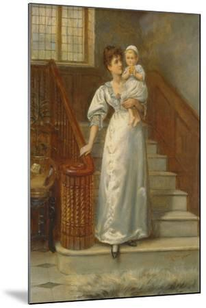 On the Staircase-George Goodwin Kilburne-Mounted Giclee Print