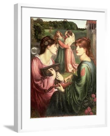 The Bower Meadow, 1850-72-Dante Gabriel Rossetti-Framed Giclee Print