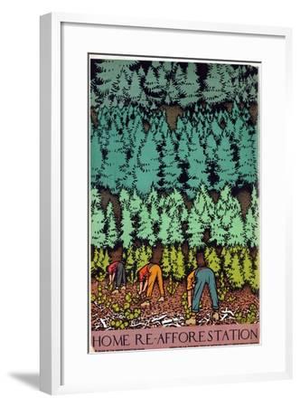 Home Afforestation-Keith Henderson-Framed Giclee Print