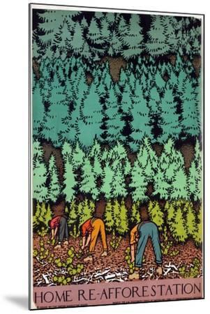Home Afforestation-Keith Henderson-Mounted Giclee Print