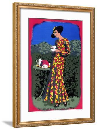 Drinking Empire Grown Tea, from the Series 'Drink Empire Grown Tea'-Harold Sandys Williamson-Framed Giclee Print