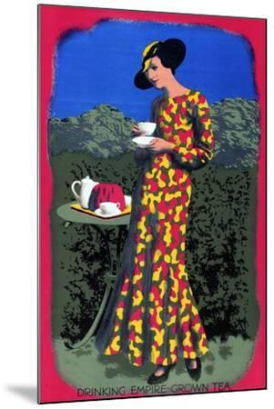 Drinking Empire Grown Tea, from the Series 'Drink Empire Grown Tea'-Harold Sandys Williamson-Mounted Giclee Print