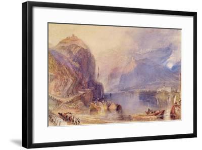 The Drachenfels, Germany, C.1823-24-J^ M^ W^ Turner-Framed Giclee Print