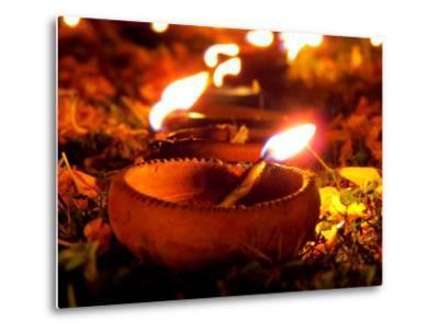 Diwali Lamps-thefinalmiracle-Metal Print