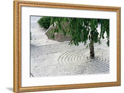 Zen Garden Showing Sand Circles--Framed Photographic Print