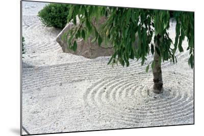 Zen Garden Showing Sand Circles--Mounted Photographic Print
