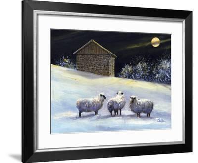 January Fleece-Jerry Cable-Framed Giclee Print