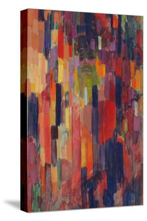 Mme Kupka among Verticals-Frantisek Kupka-Stretched Canvas Print