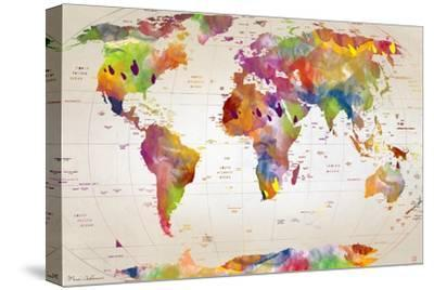 Map of the World-Mark Ashkenazi-Stretched Canvas Print