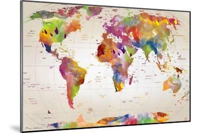 Map of the World-Mark Ashkenazi-Mounted Giclee Print