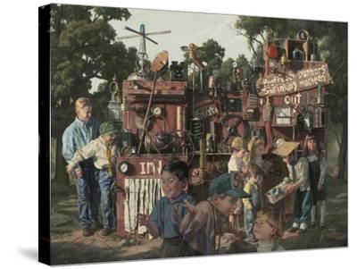 Incredible Shrinking Machine-Bob Byerley-Stretched Canvas Print