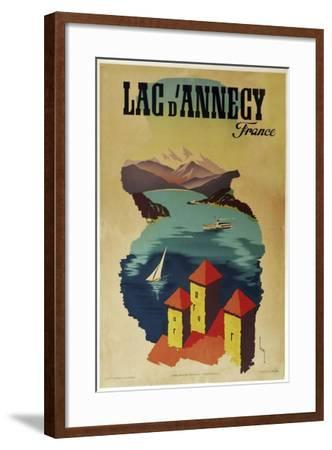 Lac Annecy of France--Framed Giclee Print