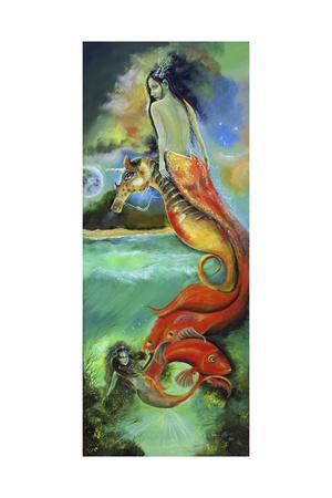 Mystic Mermaid-Sue Clyne-Framed Giclee Print