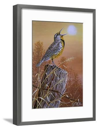 Meadowlark Painting-Jeff Tift-Framed Giclee Print