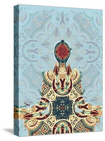 Meditating-Teofilo Olivieri-Stretched Canvas Print