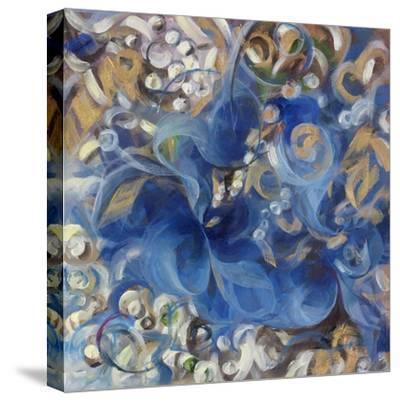 Iris Swirl-li bo-Stretched Canvas Print
