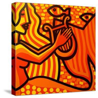 Mermaid Music-John Nolan-Stretched Canvas Print