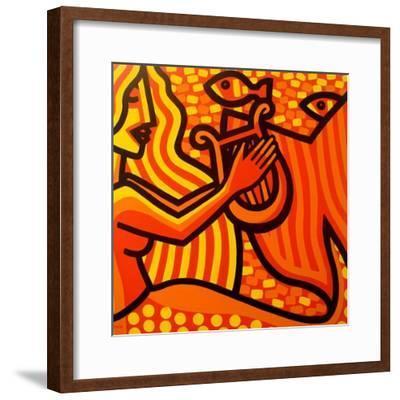 Mermaid Music-John Nolan-Framed Giclee Print