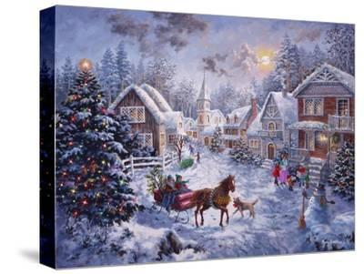 Merry Christmas-Nicky Boehme-Stretched Canvas Print