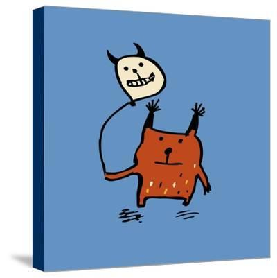 Little Orange Monsters-Carla Martell-Stretched Canvas Print