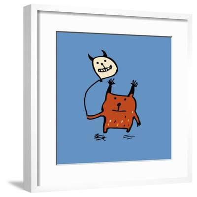 Little Orange Monsters-Carla Martell-Framed Giclee Print