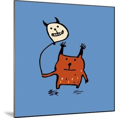 Little Orange Monsters-Carla Martell-Mounted Giclee Print
