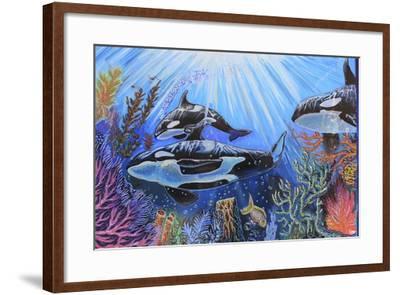 Killer Whales-Martin Nasim-Framed Giclee Print