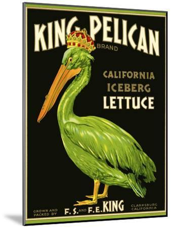 King Pelican Brand Lettuce--Mounted Giclee Print