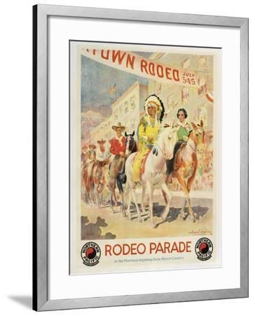 Rodeo Parade--Framed Giclee Print