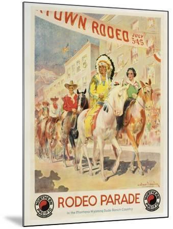 Rodeo Parade--Mounted Giclee Print