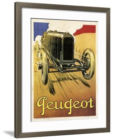 Peugeot Vint Car 1919--Framed Giclee Print