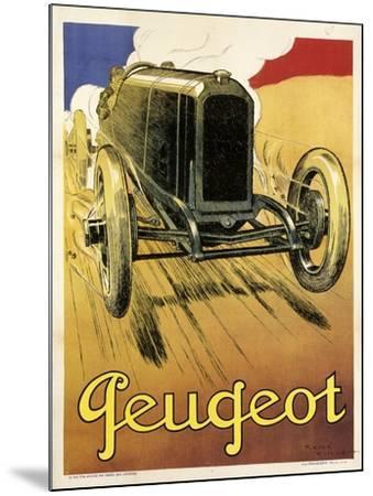Peugeot Vint Car 1919--Mounted Giclee Print