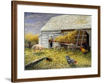 Pig and Chickens-Kevin Dodds-Framed Giclee Print