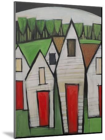 Red Doors-Tim Nyberg-Mounted Premium Giclee Print
