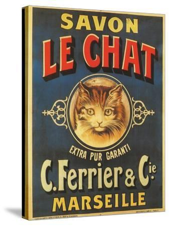 Savon Le Chat--Stretched Canvas Print