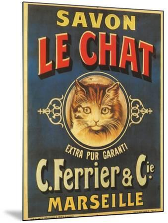 Savon Le Chat--Mounted Giclee Print