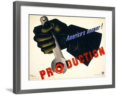 Production, America's Answer!--Framed Giclee Print