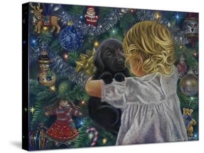 Puppy for Christmas-Tricia Reilly-Matthews-Stretched Canvas Print