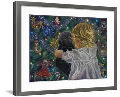 Puppy for Christmas-Tricia Reilly-Matthews-Framed Giclee Print