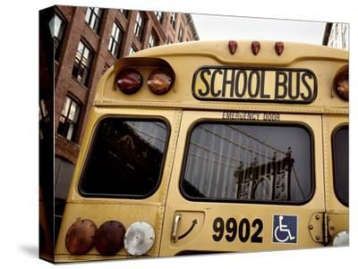NYC School Bus-Nina Papiorek-Stretched Canvas Print
