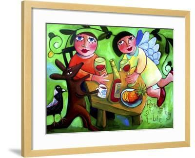 Peace Sits at My Table-Sara Catena-Framed Giclee Print