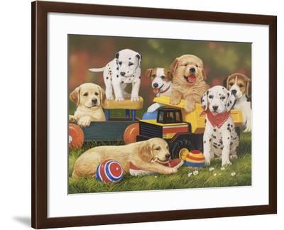 Puppy Play Group-William Vanderdasson-Framed Giclee Print