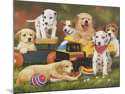 Puppy Play Group-William Vanderdasson-Mounted Giclee Print