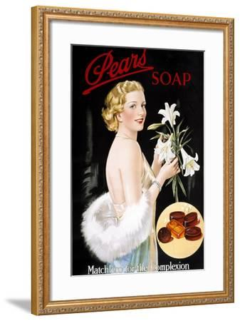 Pears Soap--Framed Giclee Print