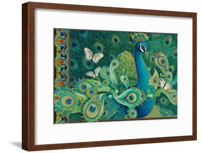 Paisley Peacock-David Galchutt-Framed Giclee Print