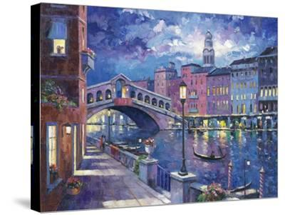 Rialto Bridge-John Zaccheo-Stretched Canvas Print