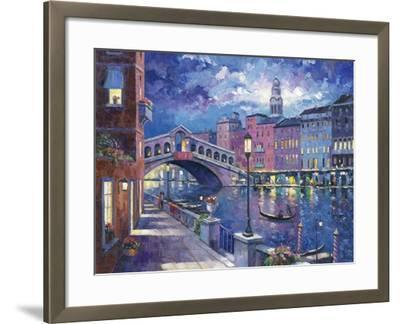 Rialto Bridge-John Zaccheo-Framed Giclee Print